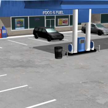 Gas Station 3d illustration