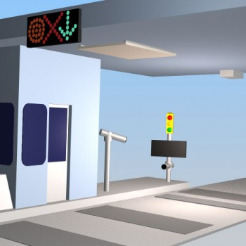 Toll Booth 3d illustration