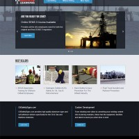 Oilfield Learning web design