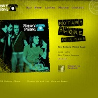 Rotary Phone Home web design